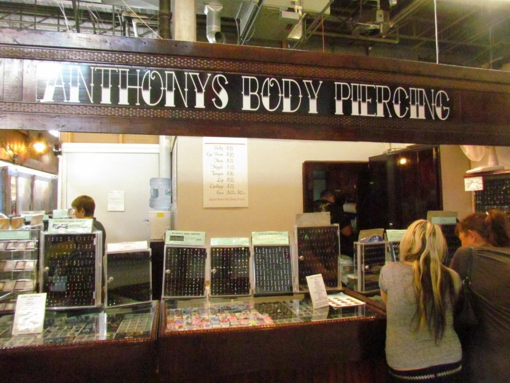 Anthonies body piercing Gibraltar Market