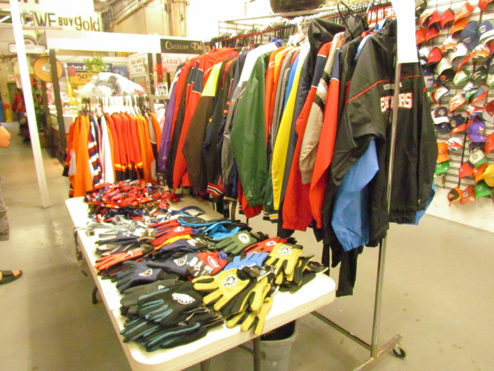 NFL and NHL clothing Gibraltar Weekend Market London Ontario