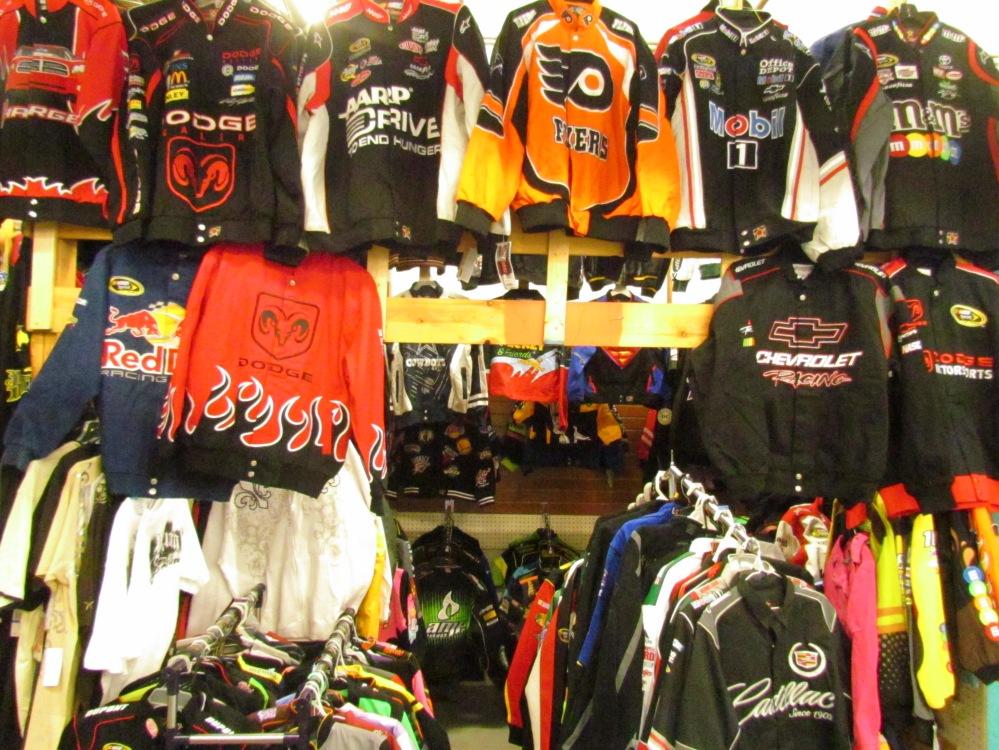NHL and Nascar Jackets Gibraltar Weekend Market London Ontario